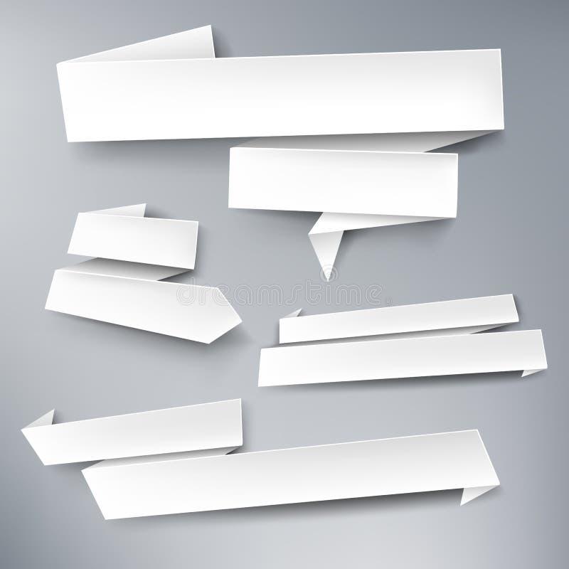 Bannières de papier de vecteur illustration stock