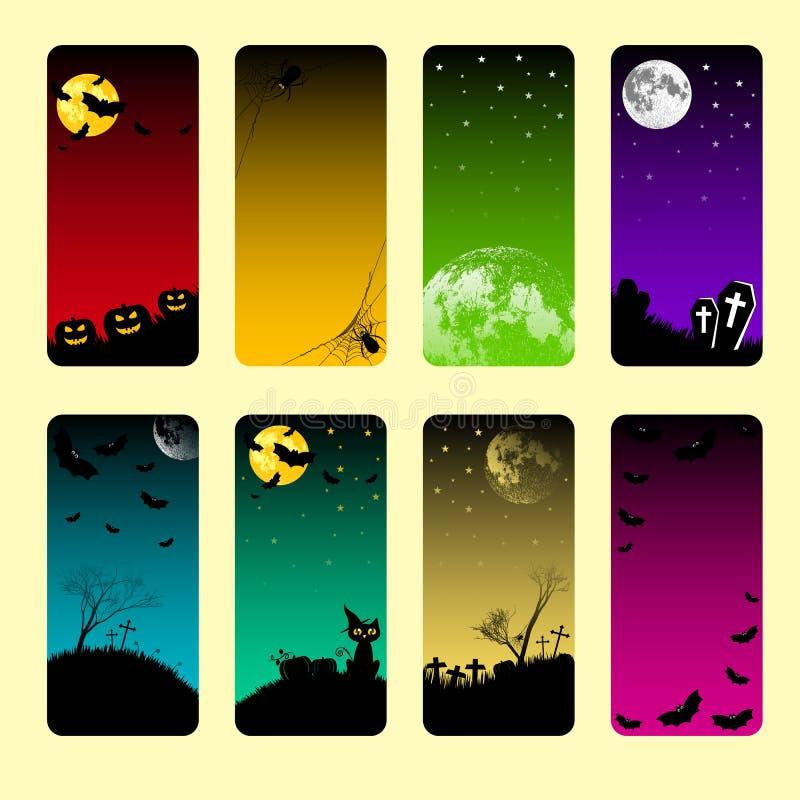 Bannières de vacances sur le thème de Halloween illustration de vecteur
