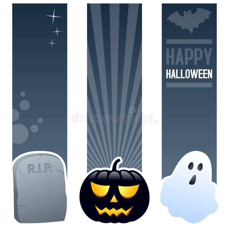 Bannières de verticale de Halloween illustration de vecteur