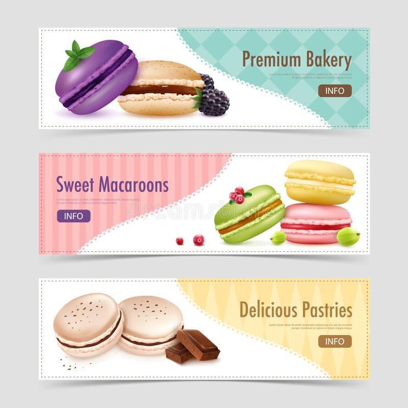 Bannières douces de pâtisserie de Ratafee illustration stock