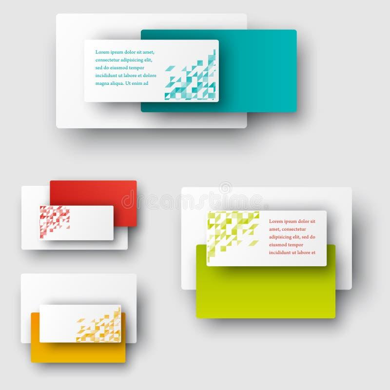 Bannières et places de vecteur Mosaïque d'ensemble de couleur illustration stock