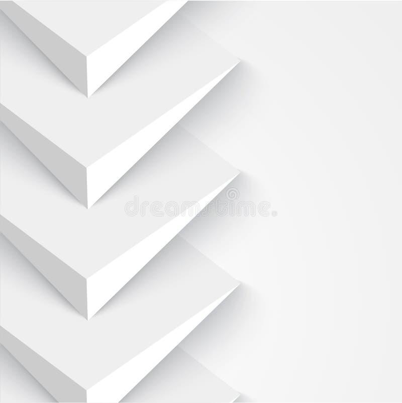 Bannières et places du vecteur 3d Conception illustration libre de droits