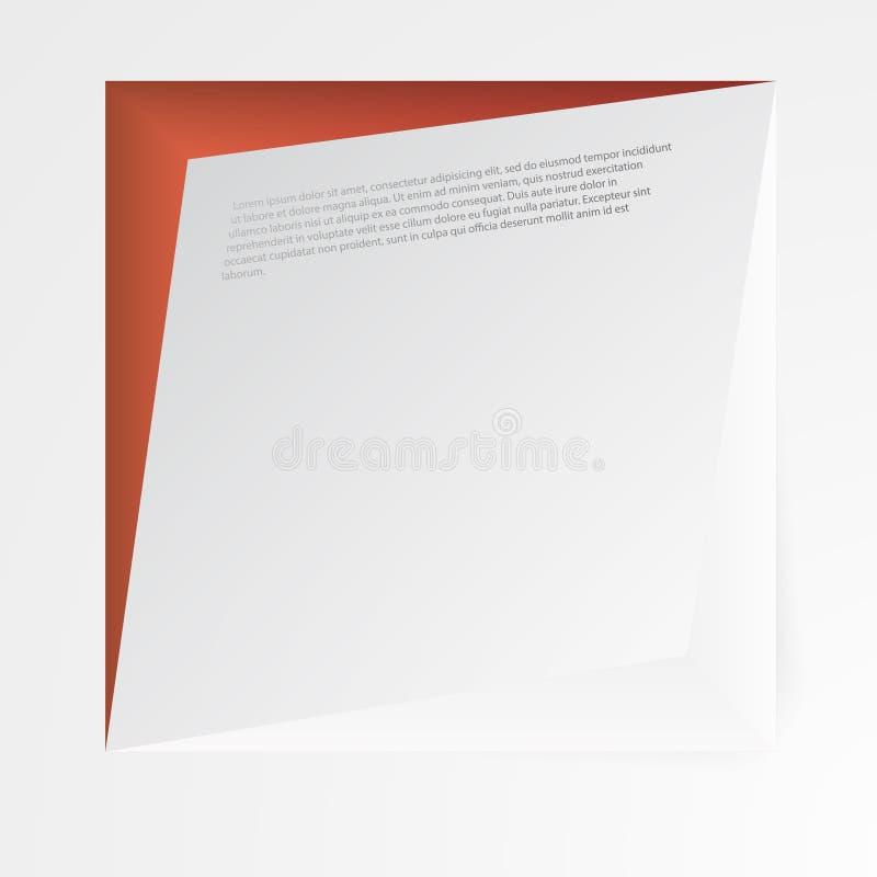 Bannières et places du vecteur 3d Conception illustration de vecteur