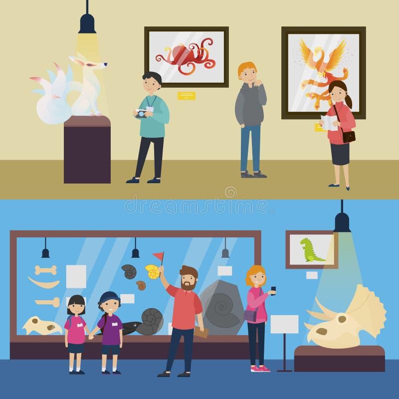 Bannières horizontales de récréation culturelle illustration libre de droits