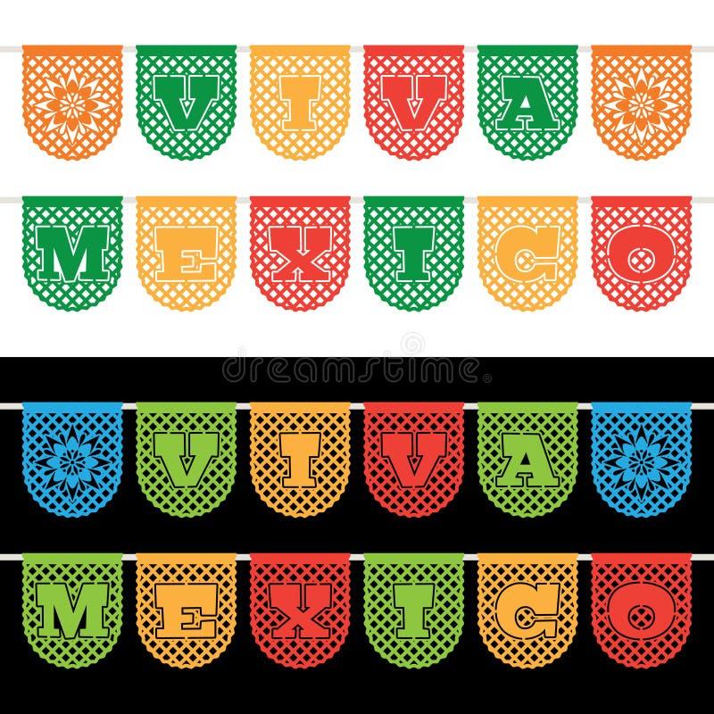 Bannières mexicaines d'étamine illustration stock