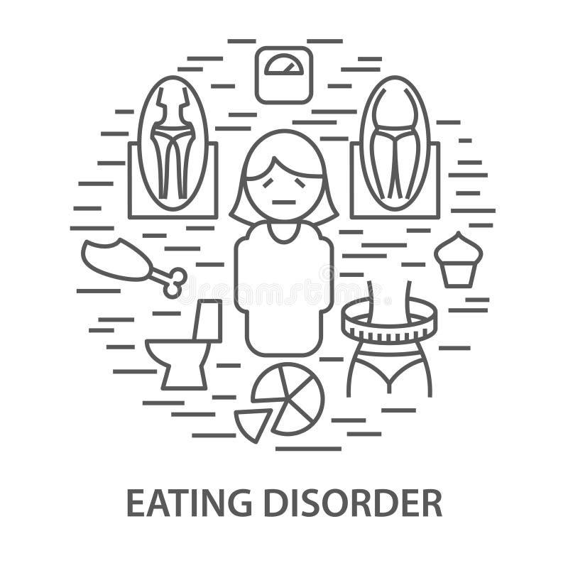 Bannières pour le trouble de la nutrition illustration stock