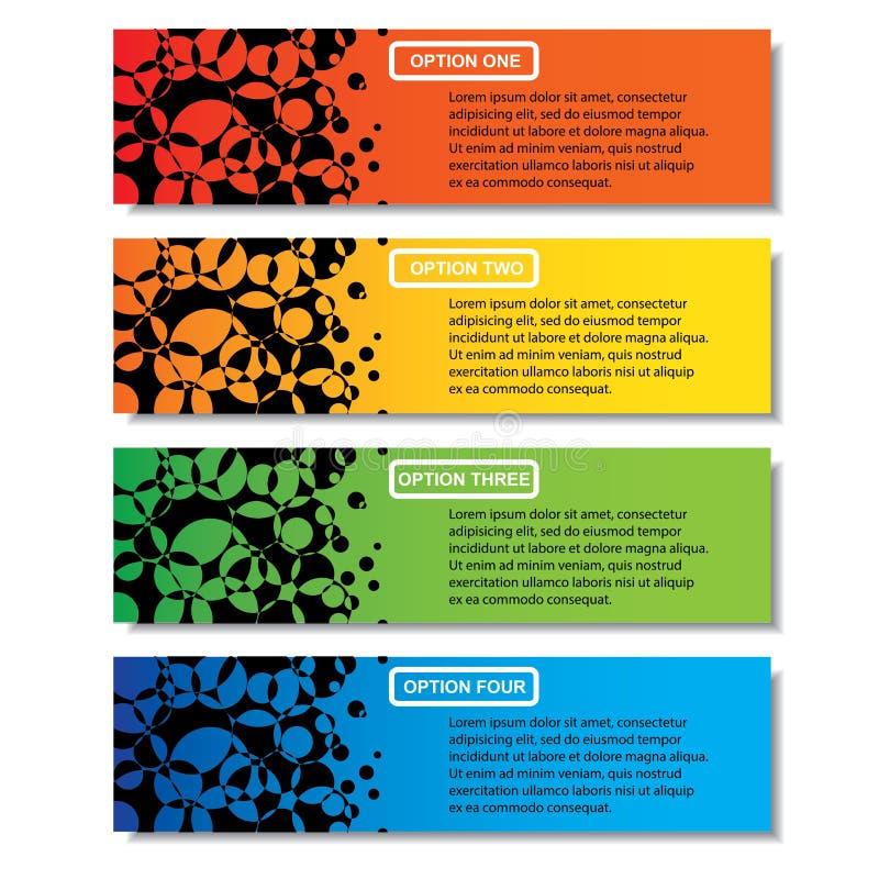 Bannières propres calibre de nombre d'affaires de conception moderne ou disposition de site Web Information-graphiques Vecteur photos libres de droits