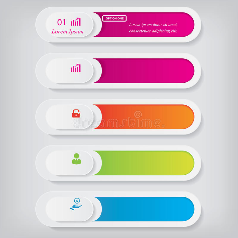 Bannières propres de nombre de conception moderne avec le concept d'affaires utilisé pour la disposition de site Web Infographie image libre de droits