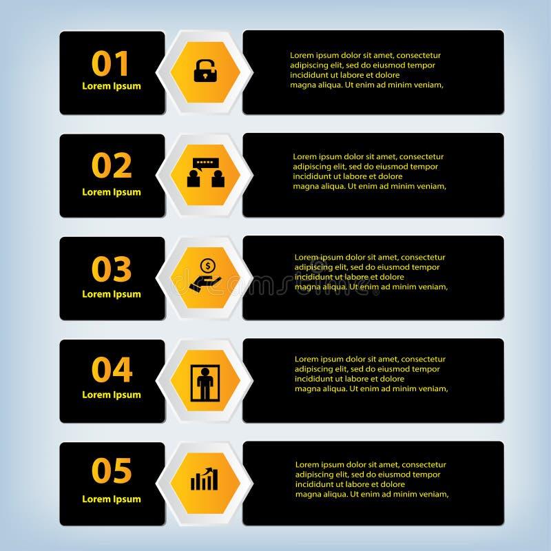 Bannières propres de nombre de conception moderne utilisées pour la disposition de site Web photo libre de droits