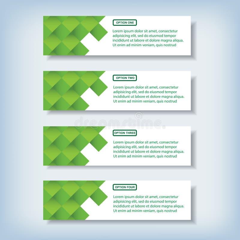 Bannières propres de nombre de conception moderne utilisées pour la disposition de site Web image libre de droits