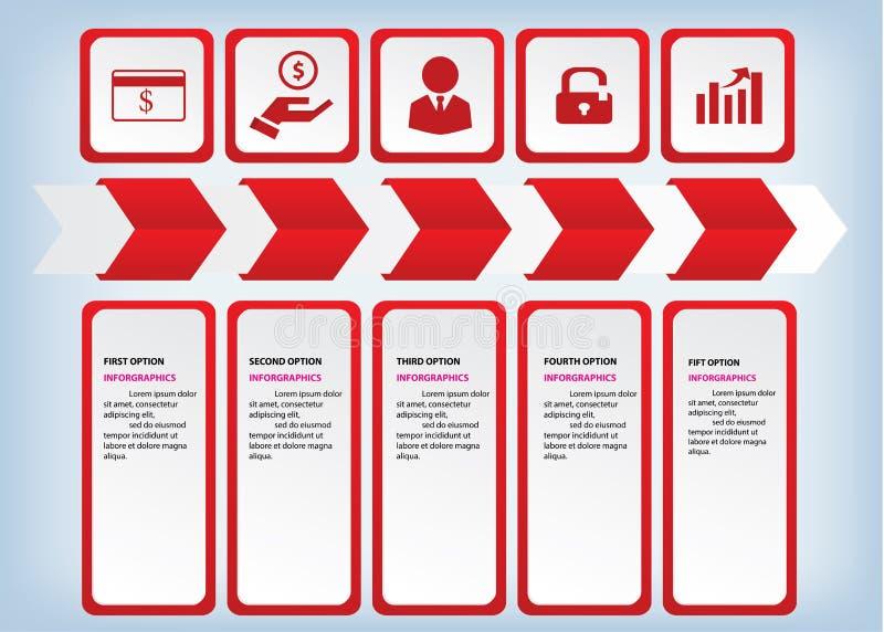 Bannières propres de nombre de conception moderne utilisées pour la disposition de site Web Infographic photographie stock libre de droits