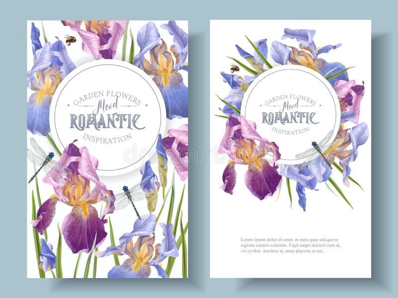 Bannières rondes d'iris illustration stock
