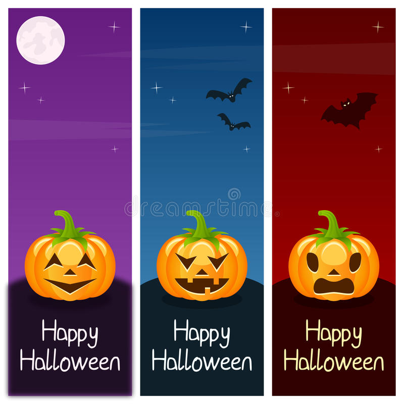 Bannières verticales de potirons de Halloween [1] illustration libre de droits