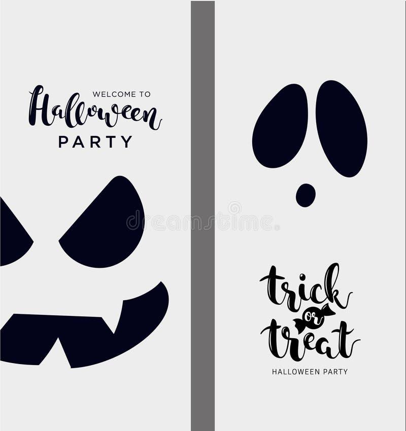 Bannières verticales grises de vecteur pour Halloween illustration de vecteur