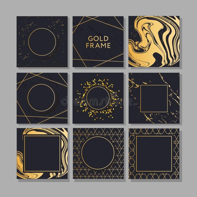Banni?re avec un art de vecteur de mode d'or de conception illustration de vecteur