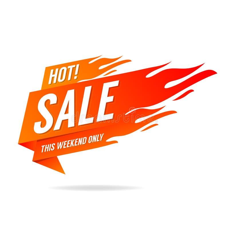 Banni?re chaude de vente Ce week-end seulement, grande vente, remise illustration libre de droits