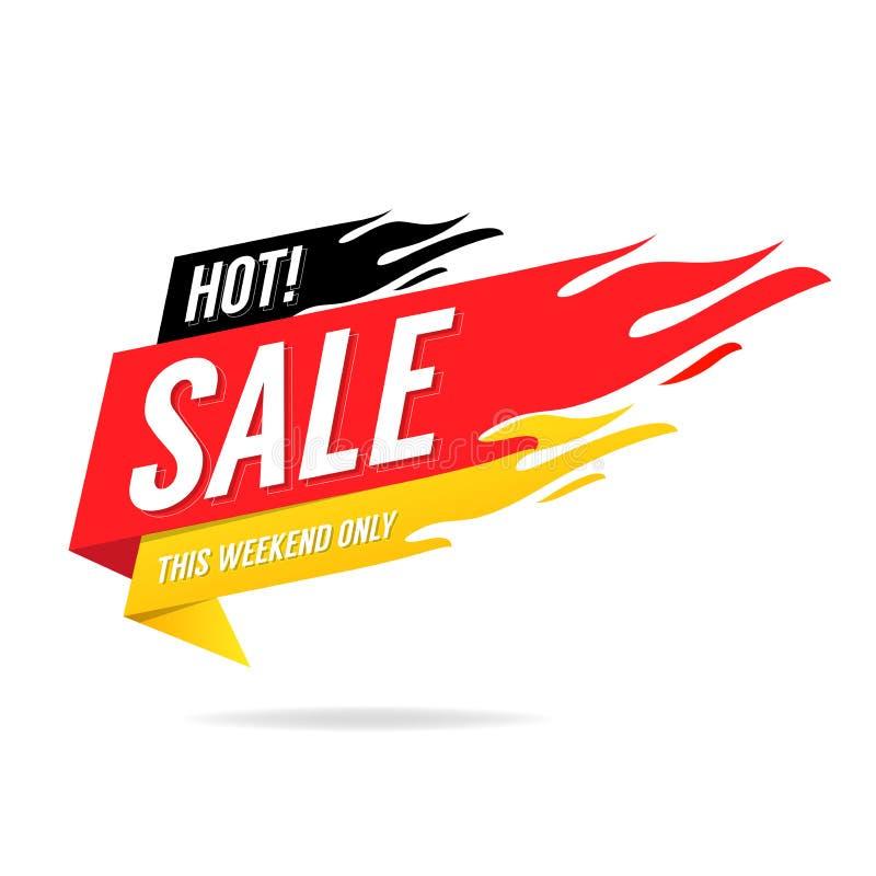 Banni?re chaude de vente Ce week-end seulement, grande vente, remise illustration de vecteur