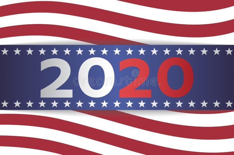 Banni?re d'?lection pr?sidentielle des 2020 USA illustration de vecteur