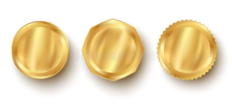 Banni?res d'or de Web de la meilleure qualit? illustration libre de droits