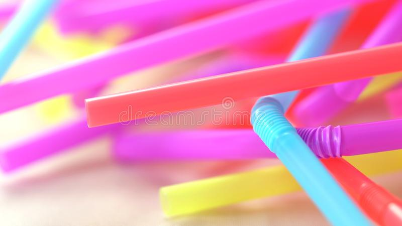 Banning plastic straws enviromental concerns concept. royalty free stock photography