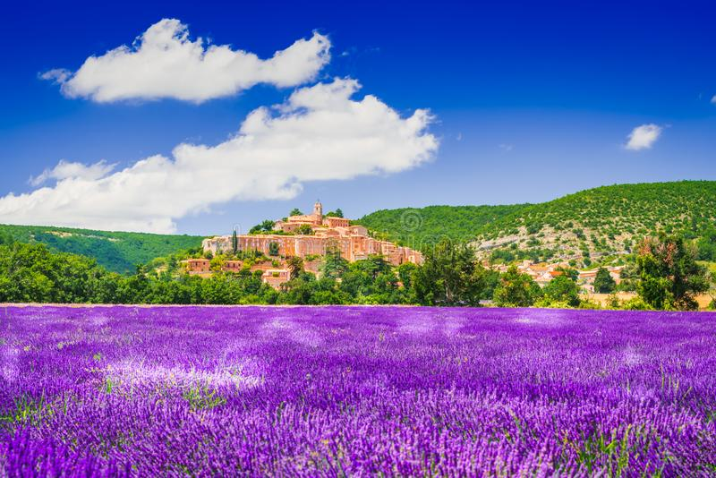 Banon hilltop village in Provence, France royalty free stock photography