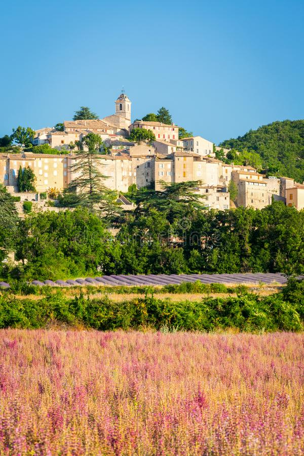 Medieval town Banon in Provence, France royalty free stock photo