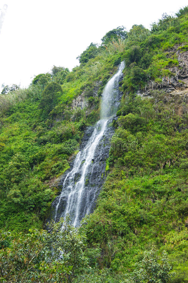 Banos, cascata dell'Ecuador immagini stock