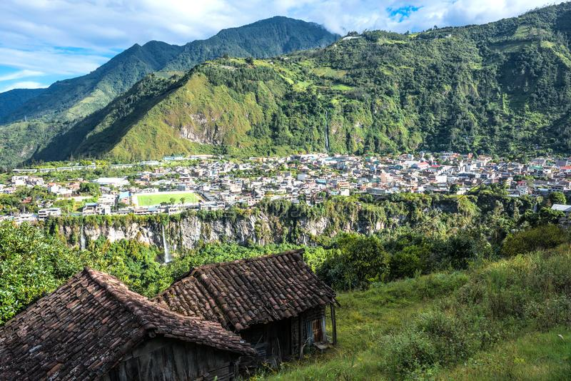 Banos de Agua Санта в эквадоре стоковые фото