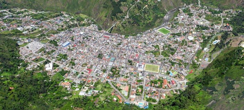 Banos De Agua Santa City Aerial Shot stockbild