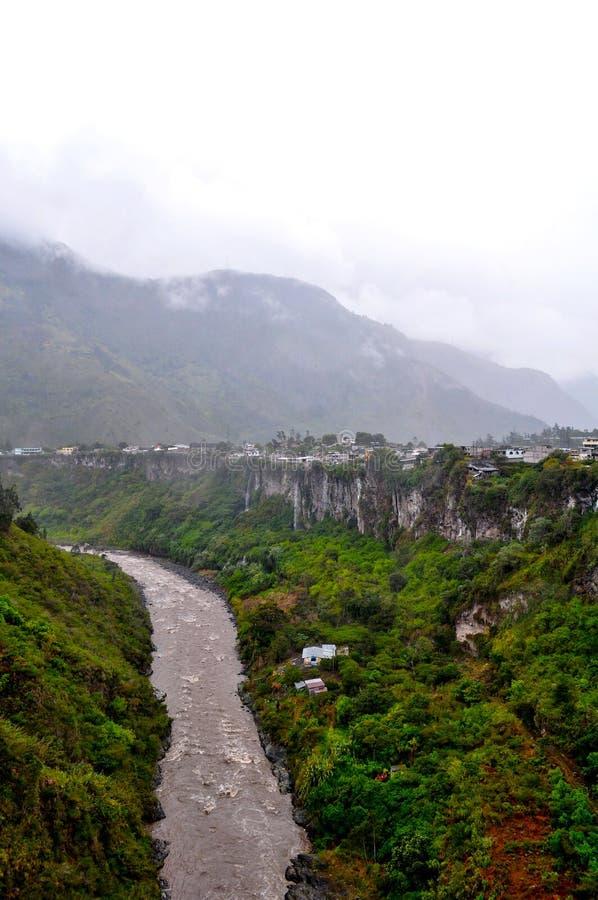 Banos DE Agua Santa, Tungurahua-Provincie stock afbeelding