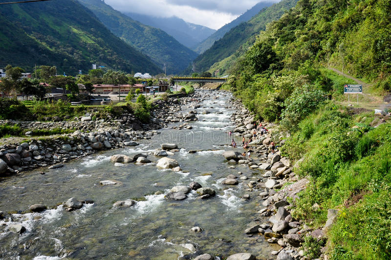 Banos DE Santa Agua, Ecuador royalty-vrije stock afbeeldingen