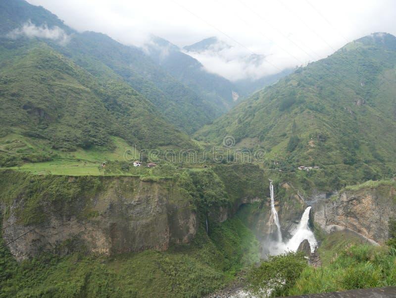 Banos di de las cascadas della ruta fotografia stock libera da diritti