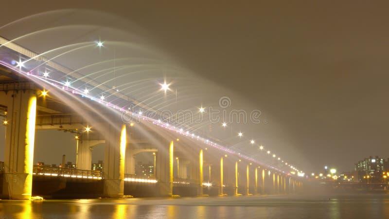 Banpo-Brücke lizenzfreie stockbilder