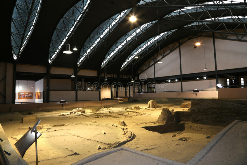 Banpomuseum -- is een museum in Xi'an (Xian, Sian), Shaanxi, China royalty-vrije stock afbeeldingen