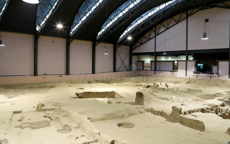 Banpomuseum -- is een museum in Xi'an (Xian, Sian), Shaanxi, China stock foto