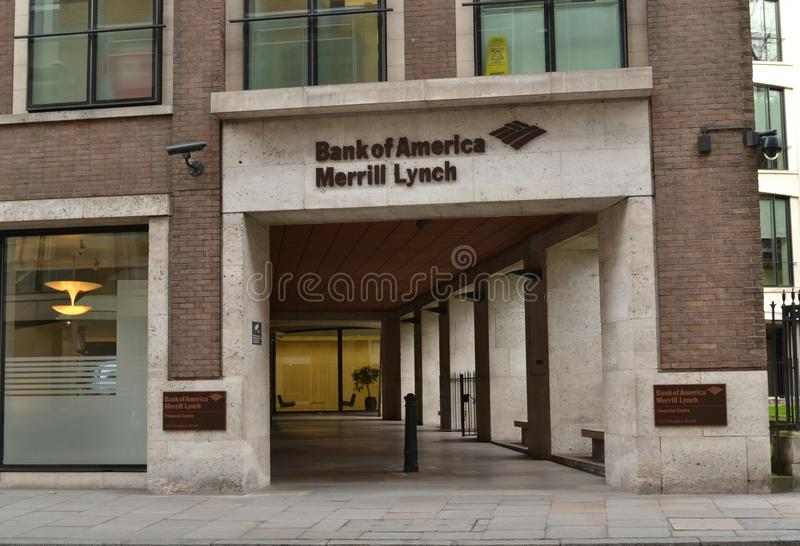 Banque Amérique Merrill Lynch London photos stock
