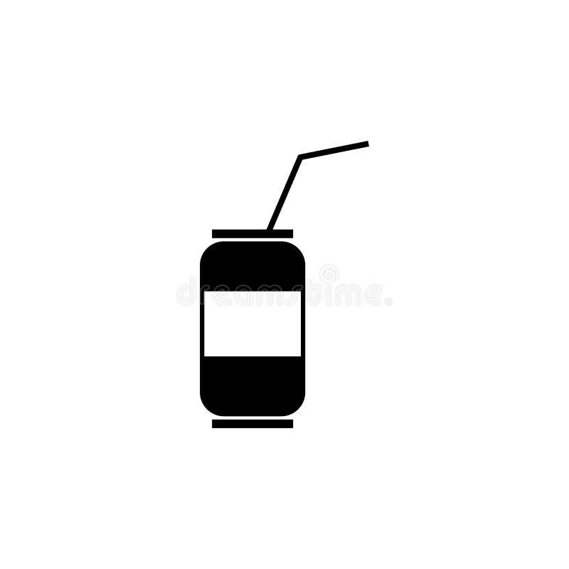 Banque avec une icône de boissons illustration stock