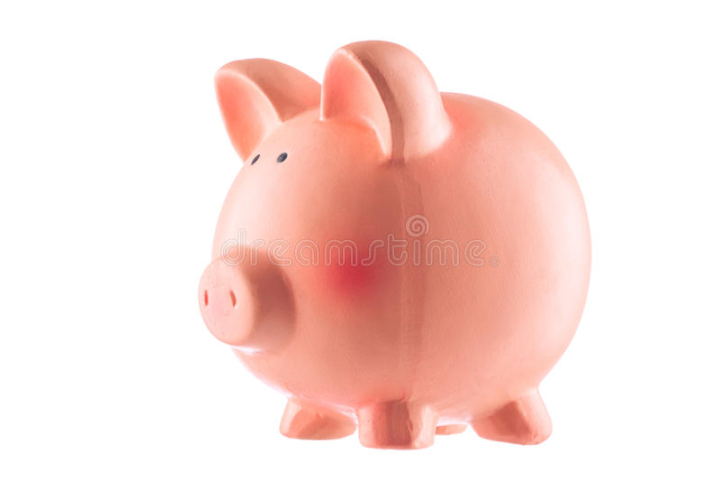 Banque classique de porc, d'isolement images stock