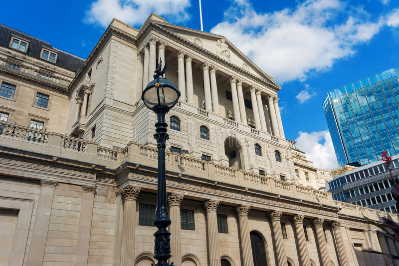 Banque d'Angleterre de Londres à Threadneedle Street images stock