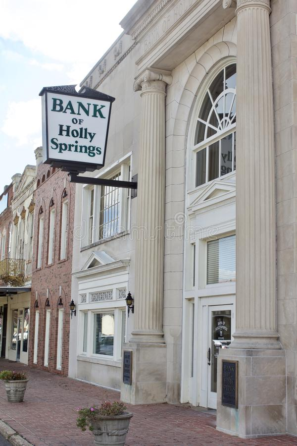 Banque de Holly Springs Mississippi image libre de droits