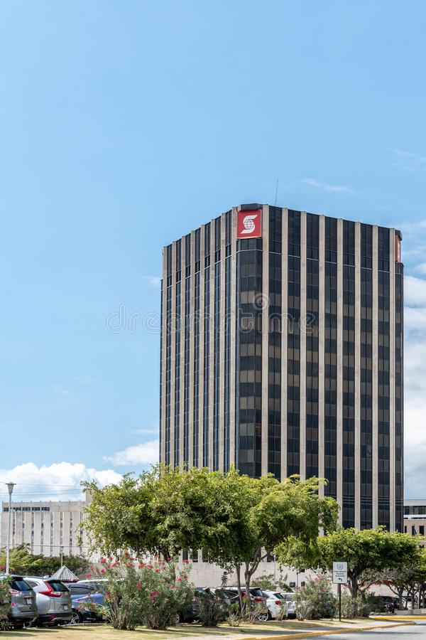 Banque de Nova Scotia Jamaica à Kingston du centre images stock