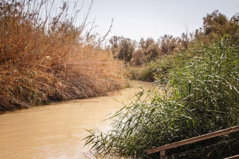 Banque du fleuve Jourdain images libres de droits