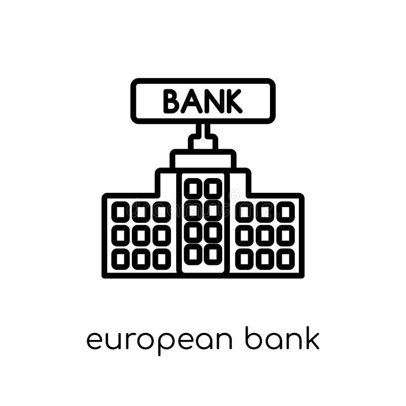 Banque européenne pour l'icône de la reconstruction et du développement d'Europ illustration stock