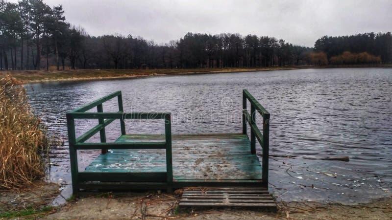 Banque isolée de lac image stock