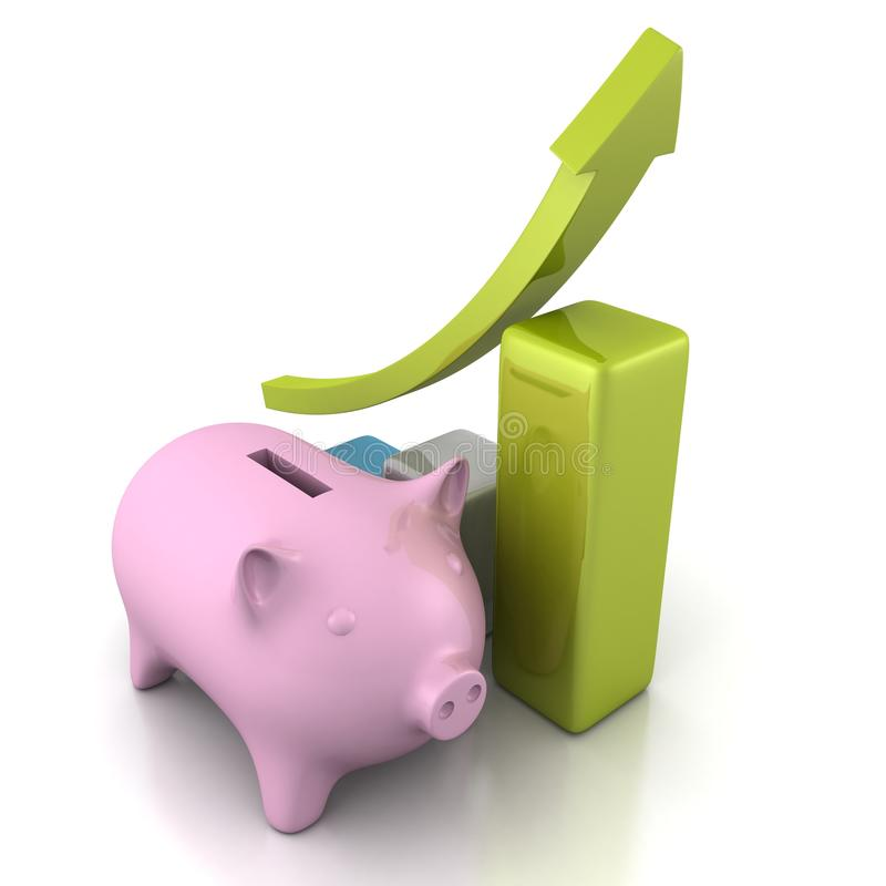 Banque porcine d'argent illustration de vecteur