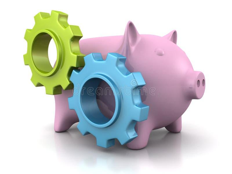 Banque porcine d'argent illustration stock