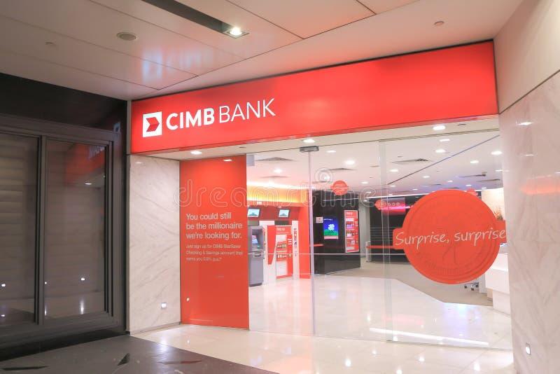 Banque Singapour de CIMB photo stock
