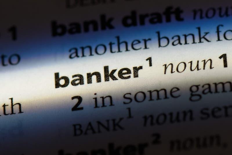 banqueiro imagem de stock