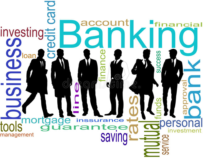 Banqueiros ilustração stock