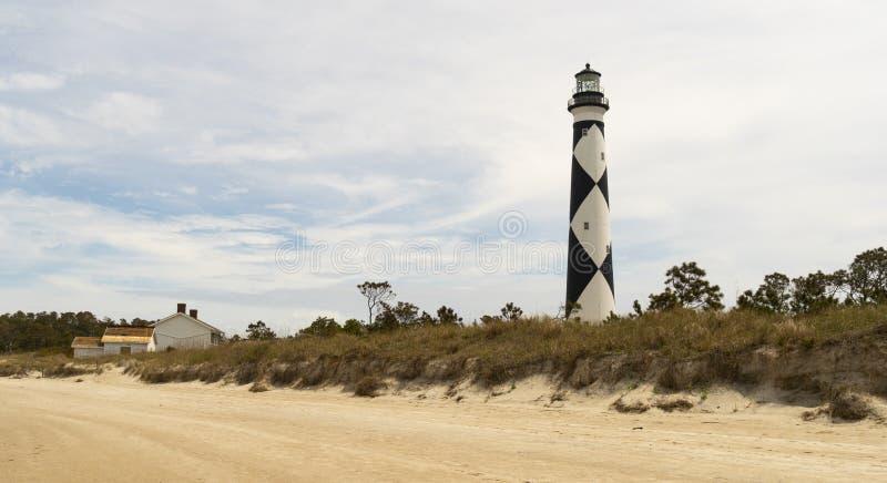 Banques Carolina Waterfront du nord de noyau de phare de surveillance de cap image stock